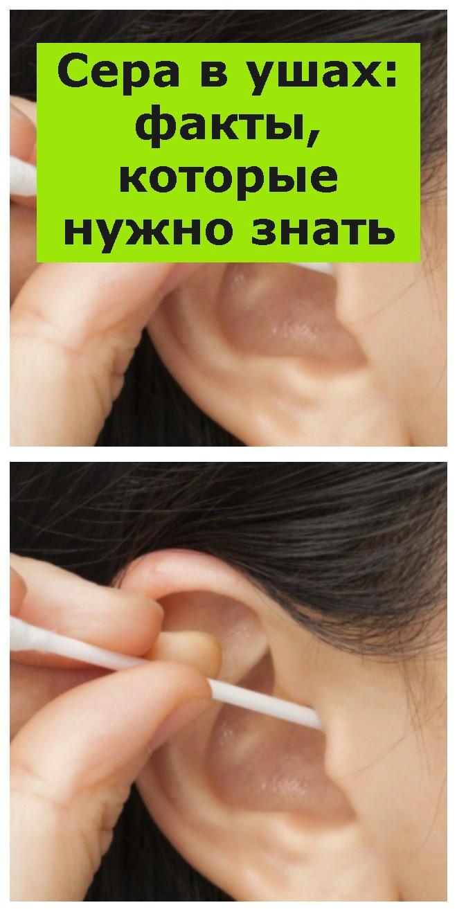 Сера в ушах: факты, которые нужно знать