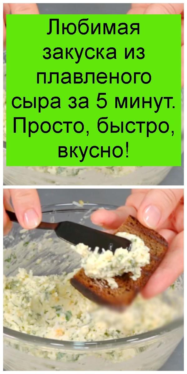 Любимая закуска из плавленого сыра за 5 минут. Просто, быстро, вкусно 4