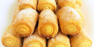 Рецепт изумительных сахарных трубочек. Хрустящие и вкусные 1