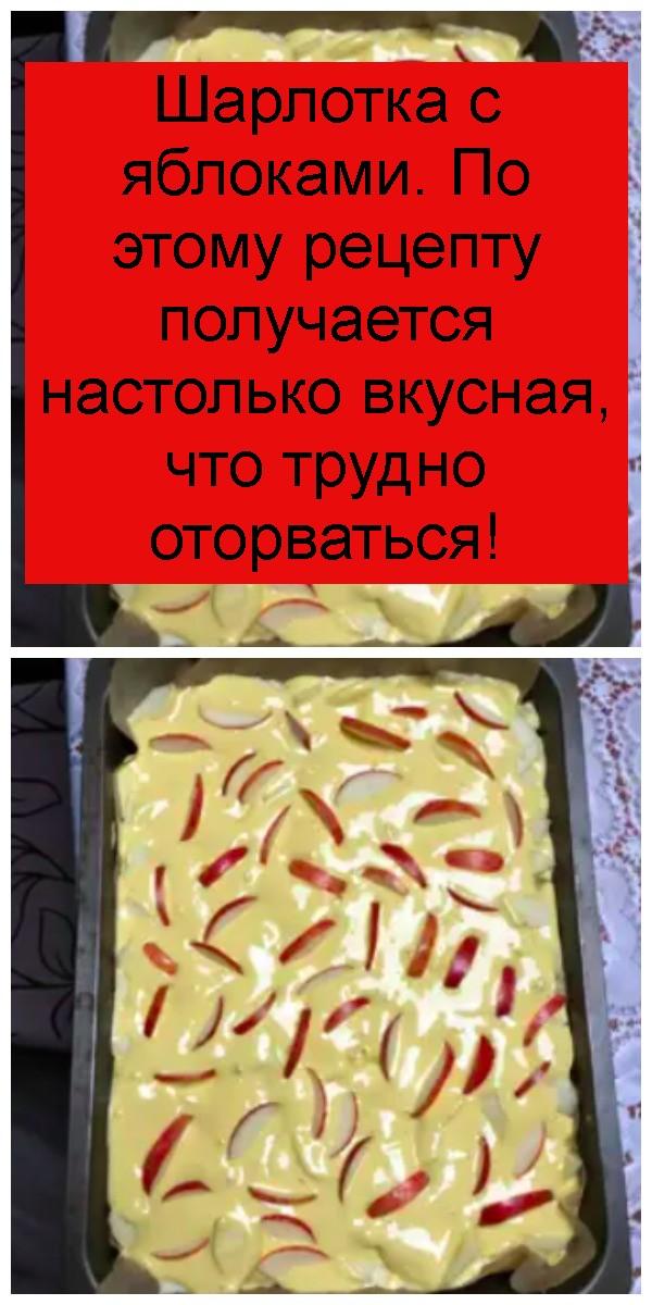 Шарлотка с яблоками. По этому рецепту получается настолько вкусная, что трудно оторваться 4
