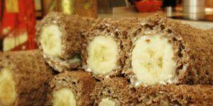 Банановый десерт без выпечки 1