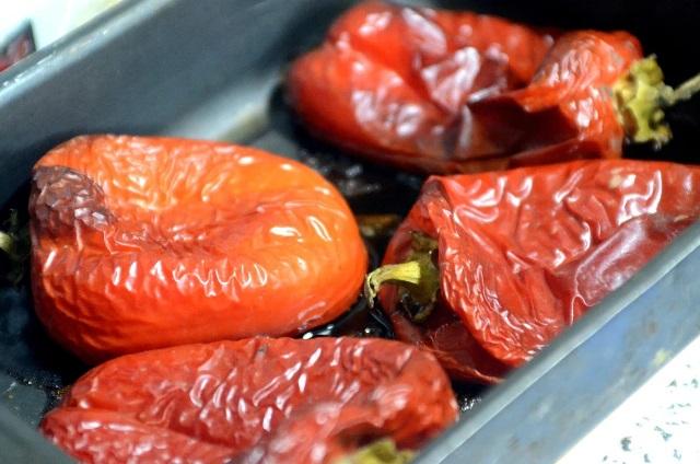 Ленюсь закатывать кучу банок: перцы и томаты на зиму. Быстро, просто, экономит место 8