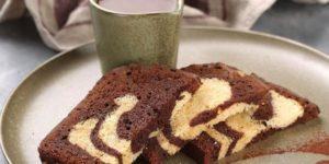 Мраморный кекс на растительном масле 1