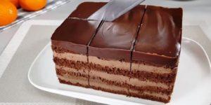 Простой и быстрый в приготовлении шоколадный торт 1