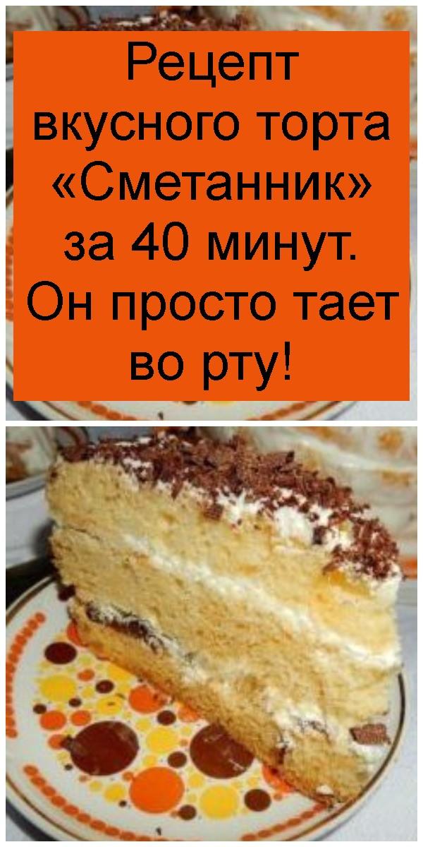 Рецепт вкусного торта «Сметанник» за 40 минут. Он просто тает во рту 4