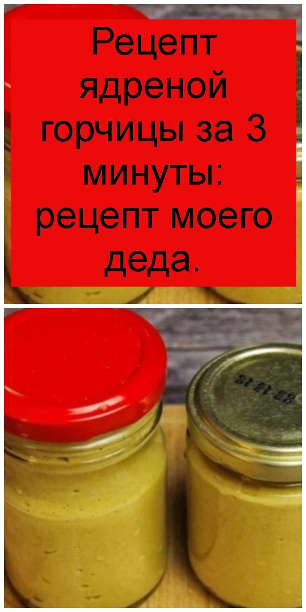 Рецепт ядреной горчицы за 3 минуты: рецепт моего деда 4