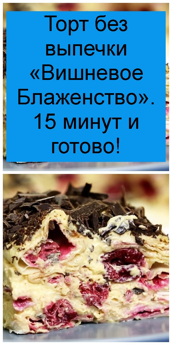 Торт без выпечки «Вишневое Блаженство». 15 минут и готово 4