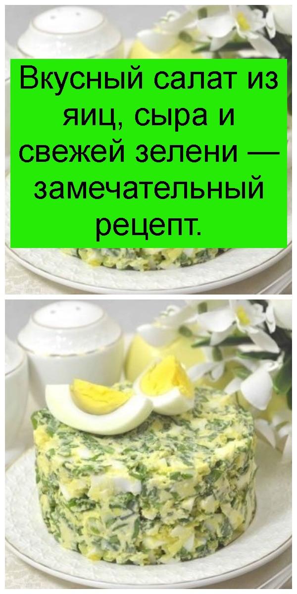 Вкусный салат из яиц, сыра и свежей зелени — замечательный рецепт 4