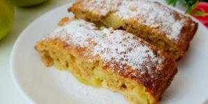 Диетический пирог без грамма муки с яблоками. Можно есть на ночь, хоть каждый день